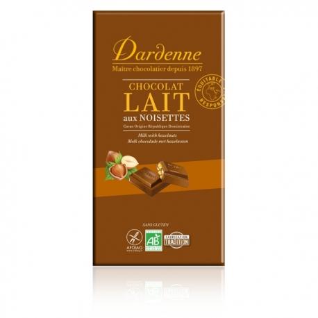 Chocolat au lait aux noisettes - 180g