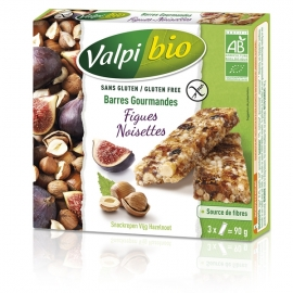 Barres Gourmandes Bio Figues-Noisettes x3 (90g) - VALPIBIO