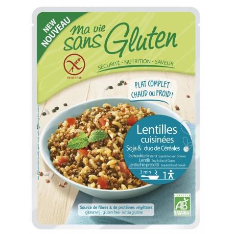 Céréales Cuisinées lentilles, soja, duo riz, sarrasin - 220g