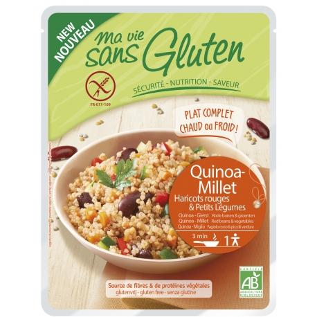 Céréales Cuisinées quinoa-millet, haricots rouges, légumes - 220g