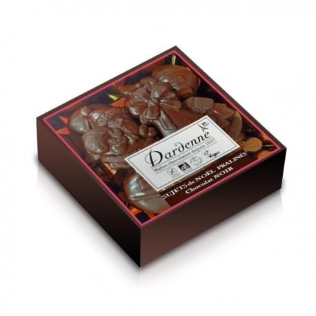 Sujets de Noël choco noir - Coffret de 100g Dardenne
