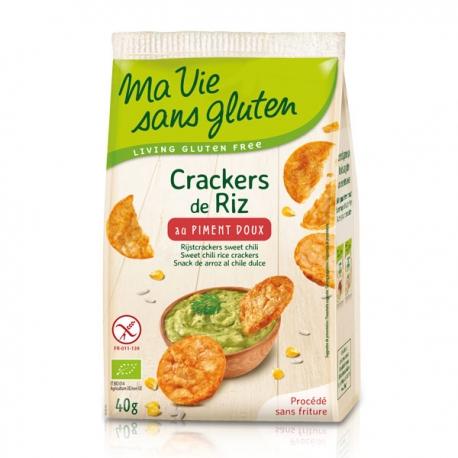 Crackers de Riz au piment doux - Ma Vie Sans Gluten