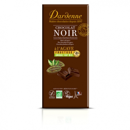 Tablette de chocolat noir au fructose DARDENNE