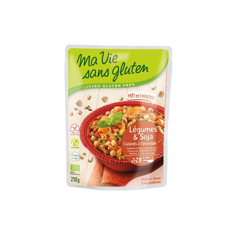 L gumes et soja cuisin s l 39 orientale plat pr par sans - Plats cuisines sans gluten ...