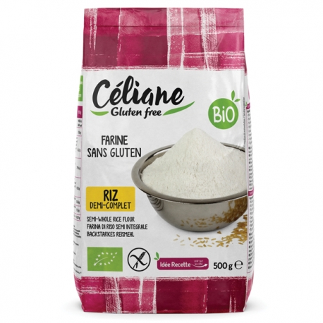 Farine de Rizdemi-complète sans gluten - Céliane