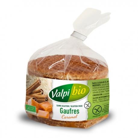 Gaufres sans gluten au caramel Valpibio