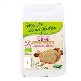 Préparation bio pour cake, châtaigne & souchet bio (300g) - MA VIE SANS GLUTEN