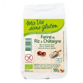 Farine bio de riz et châtaigne (500g) - MA VIE SANS GLUTEN