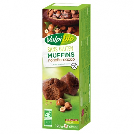 Muffins Cacao-noisette Bio - 120g