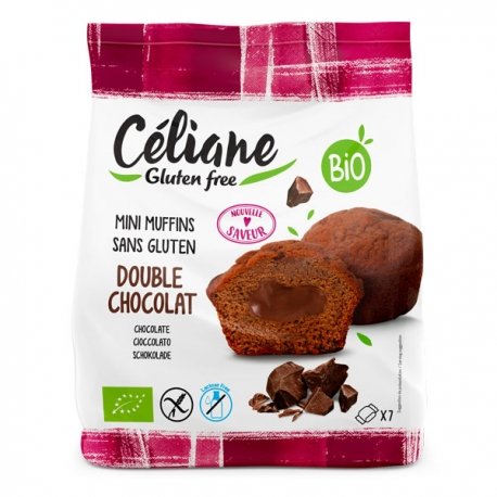 Mini Muffins Double Chocolat - Céliane sans gluten 200g
