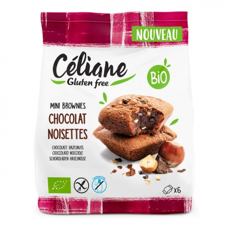 Mini Brownies Chocolat Noisettes - Céliane sans gluten 170g