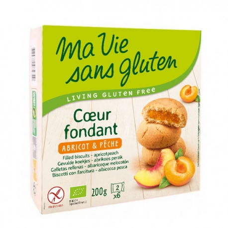 Coeurs Fondants bio Abricot/Pêche - Ma Vie sans Gluten