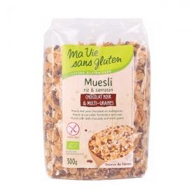 Muesli bio riz sarrasin au chocolat noir et multi-graines (300g) - MA VIE SANS GLUTEN