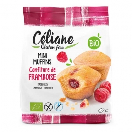 Mini muffins confiture de framboise 200g - CELIANE