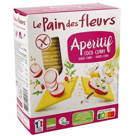 Tartines Apéritif Coco Curry sans gluten - LE PAIN DES FLEURS