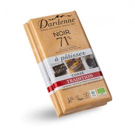 Lot de 2 Tablettes Chocolat Noir 71% Pâtisser (2x200g) - DARDENNE