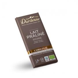Tablette Chocolat Lait Praliné (100g) - DARDENNE
