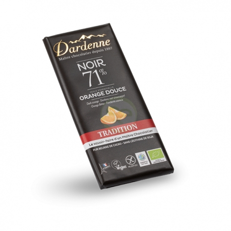 Chocolat Noir/Orange Douce (70g) - DARDENNE