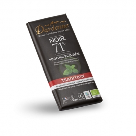 Tablette Choco Noir/Menthe Poivrée (70g) - DARDENNE