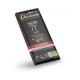 Tablette Choco Noir/Café (70g) - DARDENNE