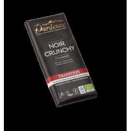Tablette Chocolat Noir 71% Crunchy de Marron (90g) - DARDENNE