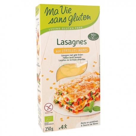 Lasagnes aux Lentilles Jaunes (250g) - MA VIE SANS GLUTEN