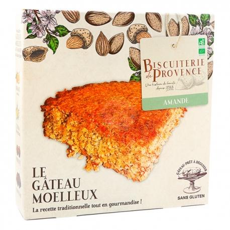 Gâteau Moelleux Bio aux Amandes (225g) - BISCUITERIE DE PROVENCE