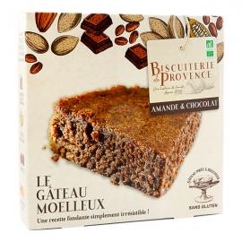 Gâteau Moelleux Bio Amandes Chocolat (225g) - BISCUITERIE DE PROVENCE