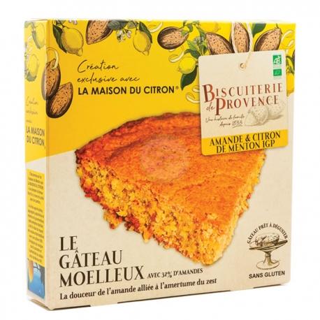 Gâteau Moelleux Bio Amandes Citron de Menton (225g) - BISCUITERIE DE PROVENCE