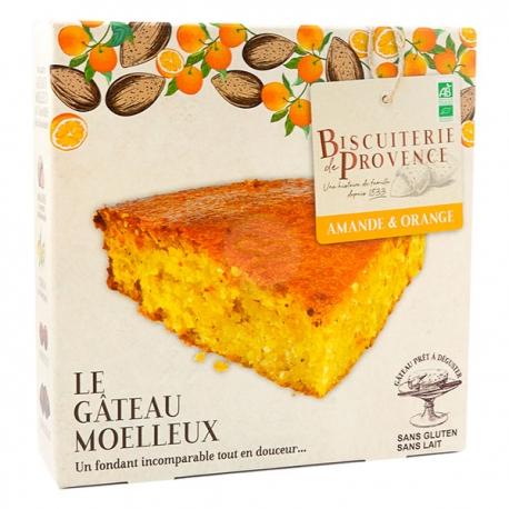 Gâteau Moelleux Bio Amandes Orange (225g) - BISCUITERIE DE PROVENCE