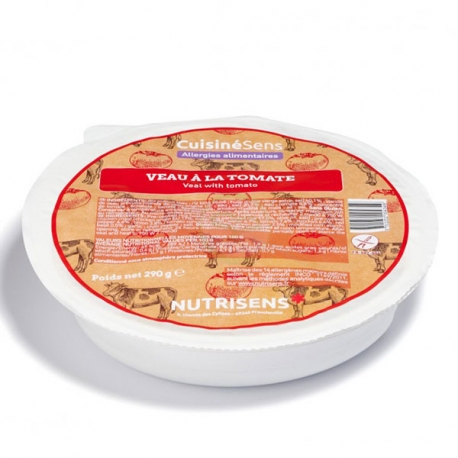 Veau à la tomate et son riz - 290g