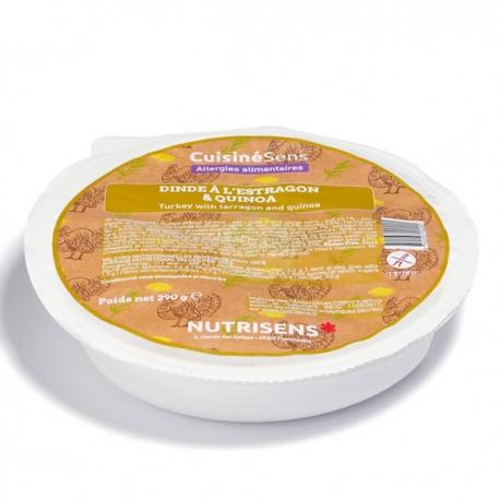 Dinde à l'estragon et quinoa - 290g