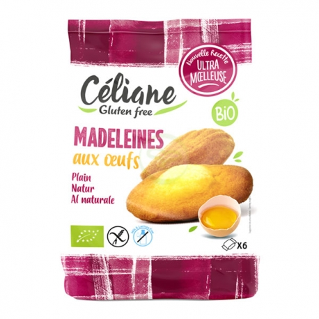 Céliane sans gluten   Madeleines aux oeufs