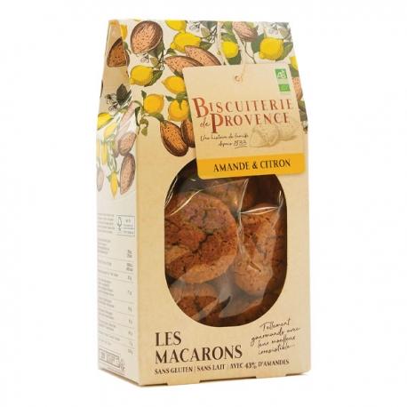 Macarons Bio aux Amandes et Citron (140g) - BISCUITERIE DE PROVENCE