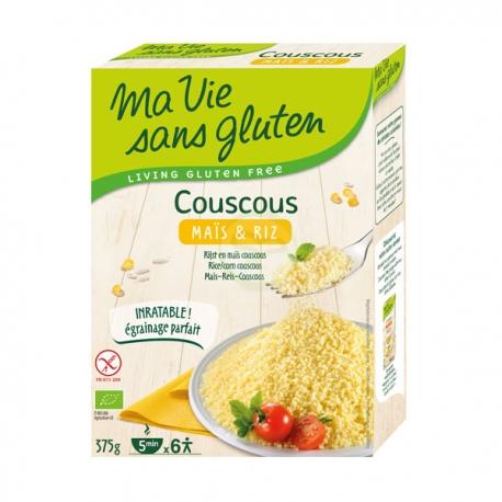 Couscous Bio Maïs et Riz (375g) - MA VIE SANS GLUTEN