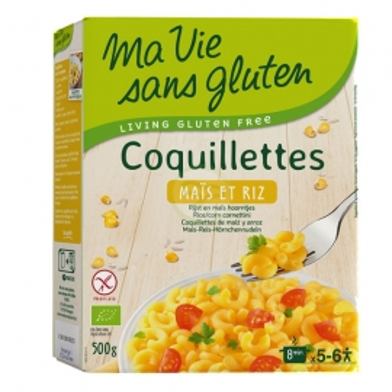 Coquillettes Maïs et Riz (500g) - MA VIE SANS GLUTEN